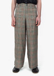 Wide Trousers - Checked