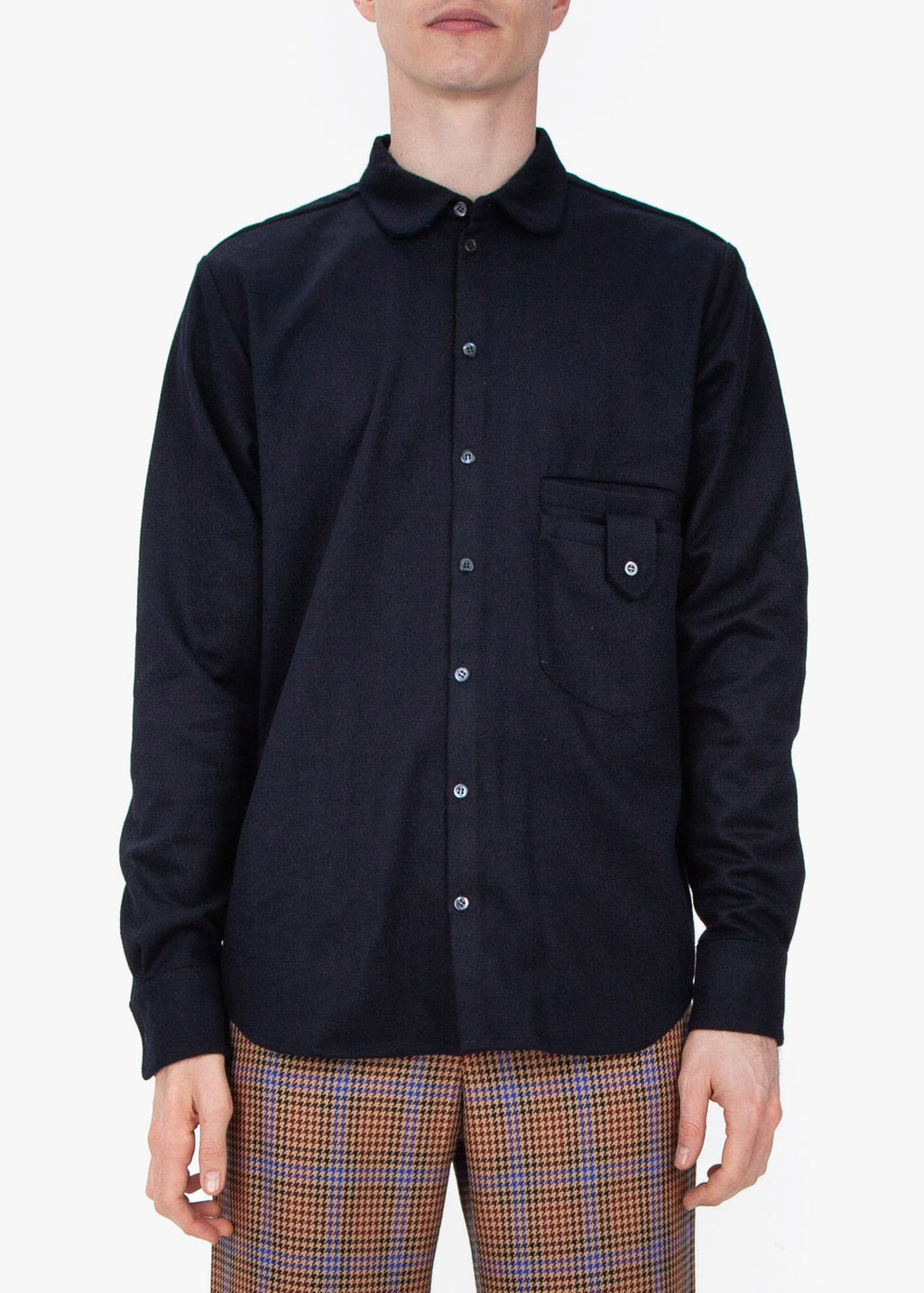 Shirt - Navy Wool