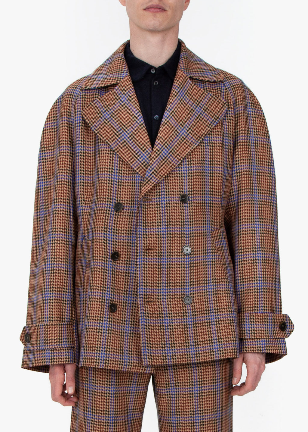 Double Breasted Jacket - Houndstooth
