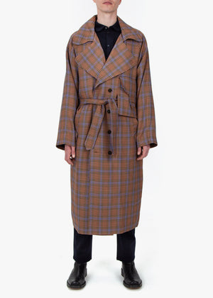 Trench Coat -  Houndstooth