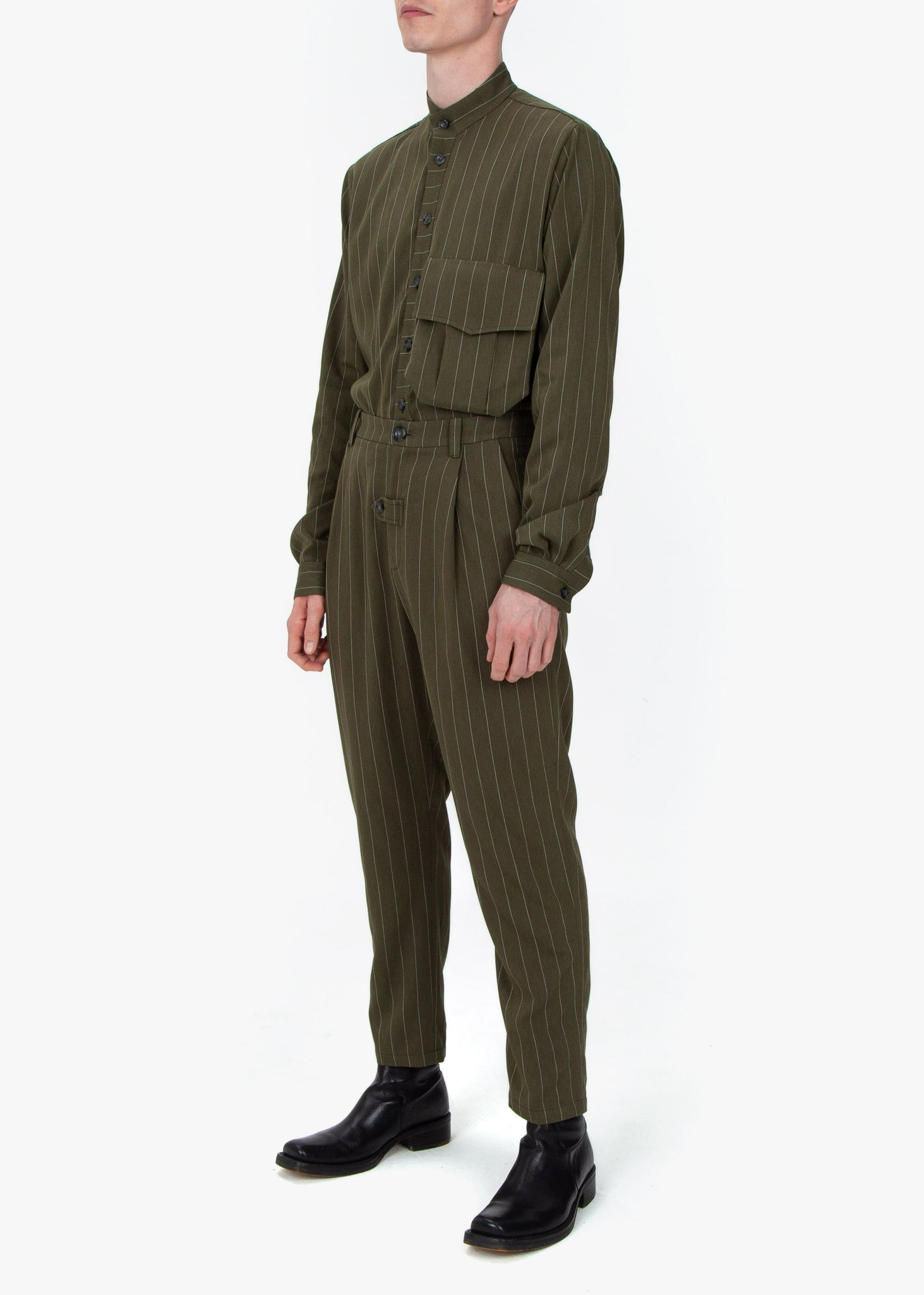 Pleated Trousers - Green