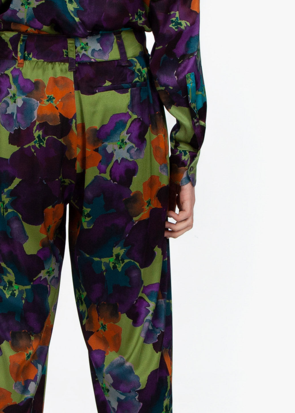 Cigar Trousers - Flower Print