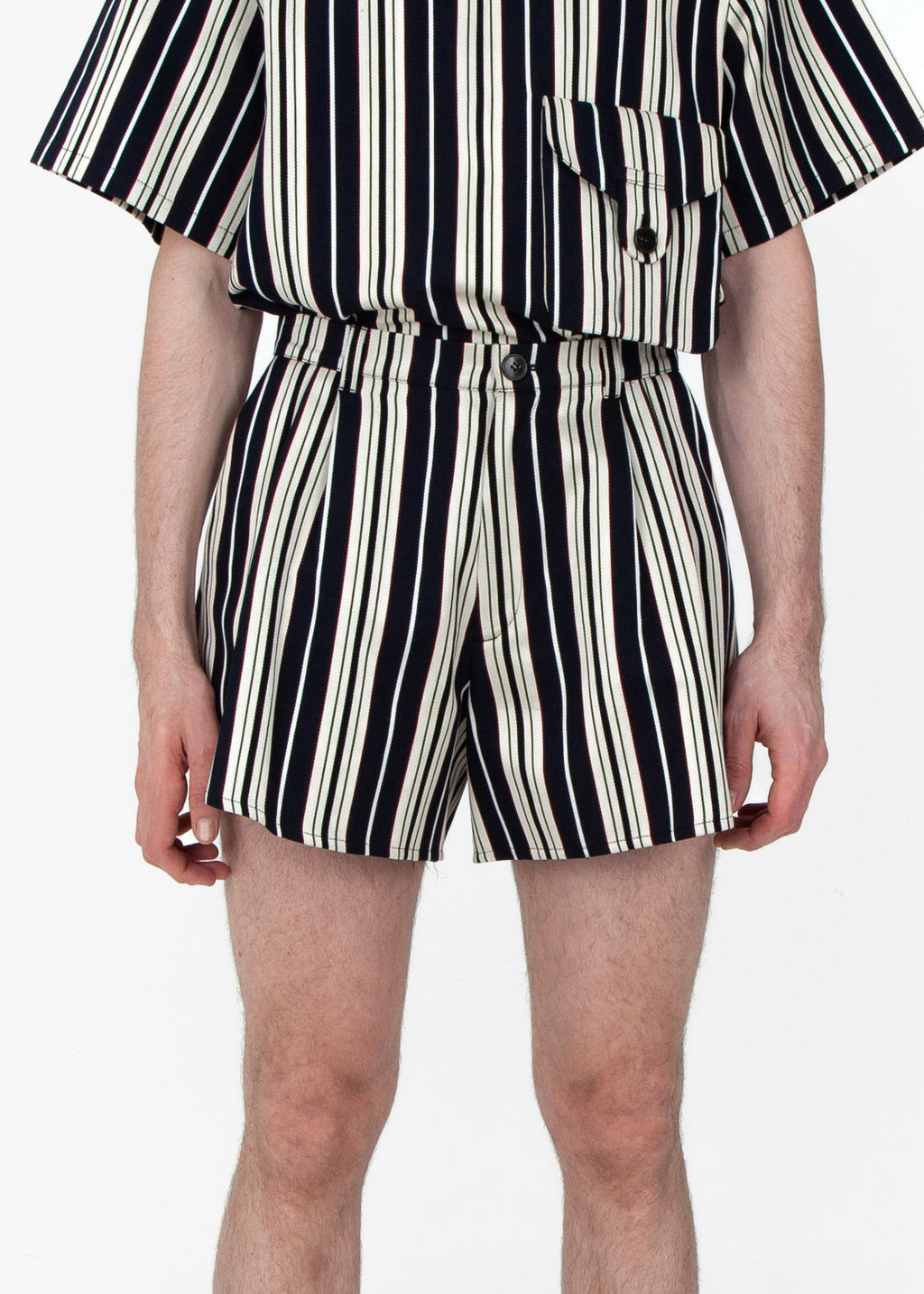 Wide Shorts - Blue Stripes