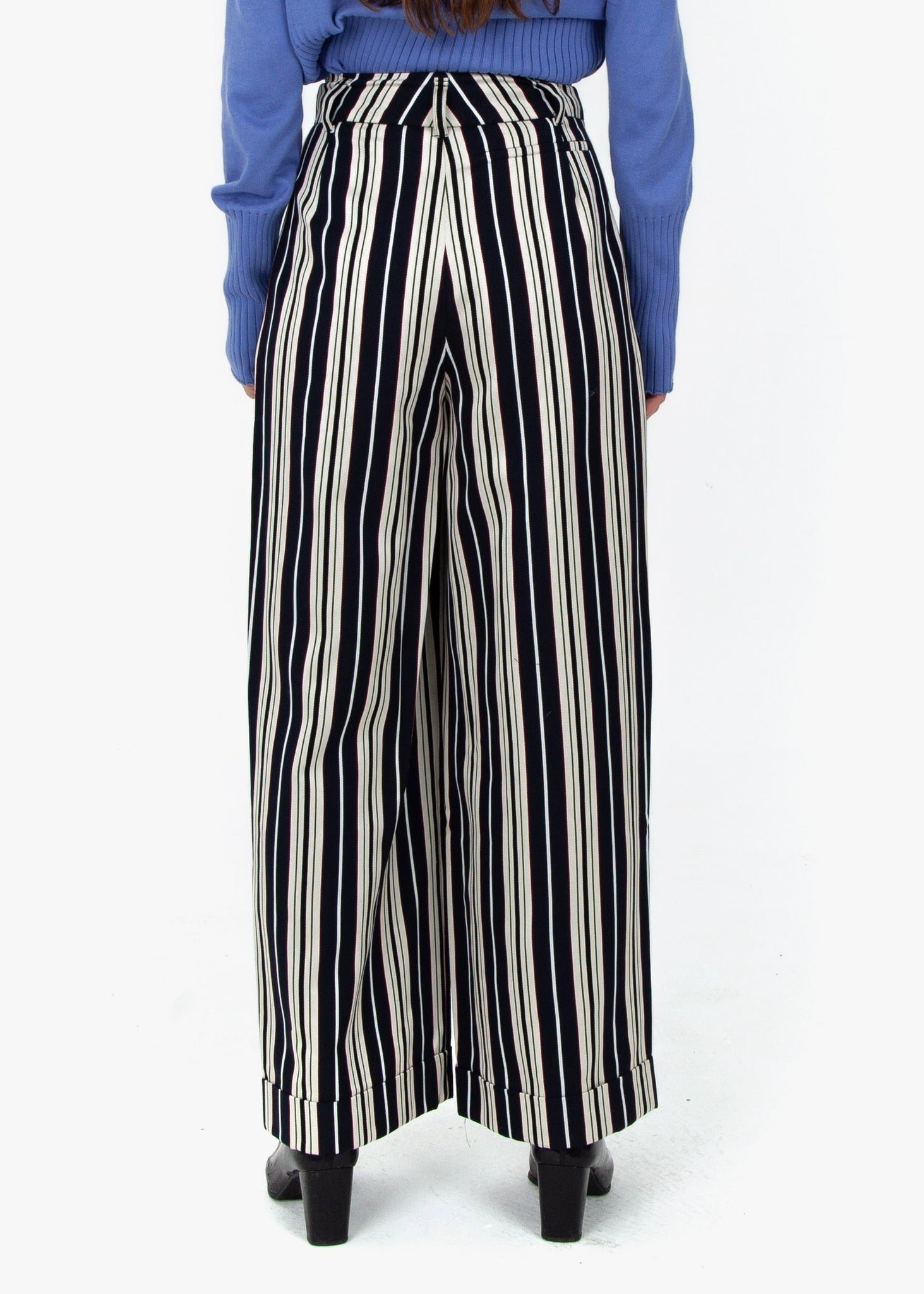 Wide Pleated Trousers