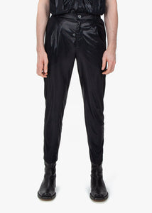 Pleated Trousers - Black