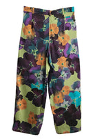 Pipe Trousers - Flower Print