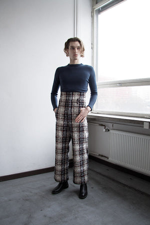 High Waisted Pipe Trousers