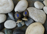 Blue Stone Gold Jhumka