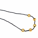 Geometric gold choker