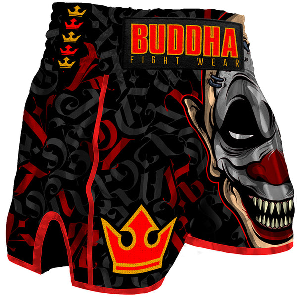 Muay Thai Kick Boxing pants Buddha Retro Crown - Buddha Fight Wear