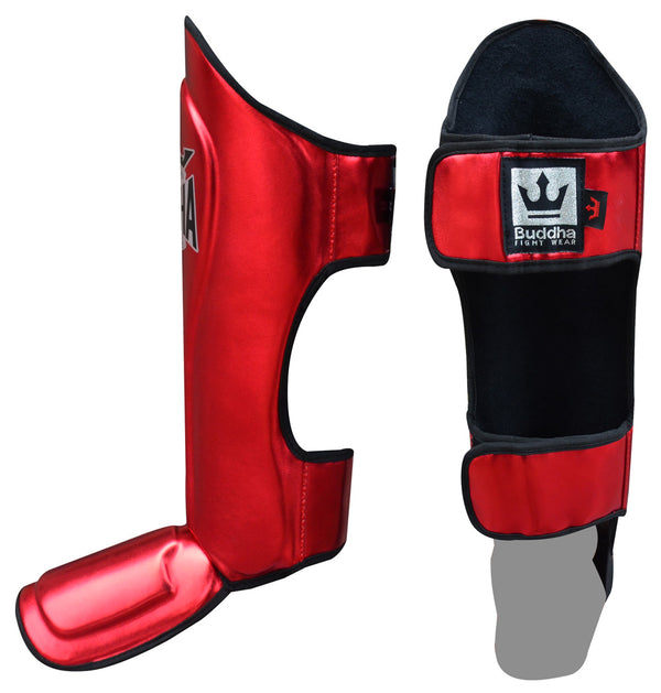Shin Guards Muay Thai MMA Kick Boxing Red King Supreme - Buddha Fight Wear