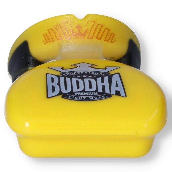 Premium Boxing Mundschutz Buddha Gelb - Buddha Fight Wear
