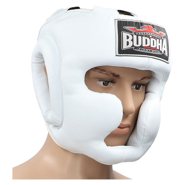 Thailand Training Helmet White - Buddha Fight Wear