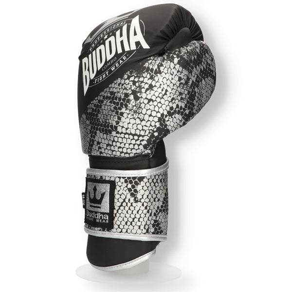 Muay Thai Kick Boxing Eskularruak Buddha Konbinatu Silver - Buddha Fight Wear