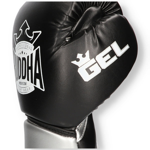 Guants de Boxa Muay Thai Kick Boxing Buddha Pro Gel Negre - Buddha Fight Wear