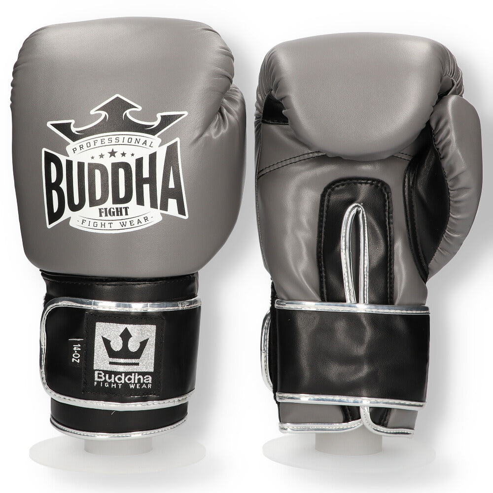 Boxhandschuhe Muay Thai Kick Boxing Top Fight grau