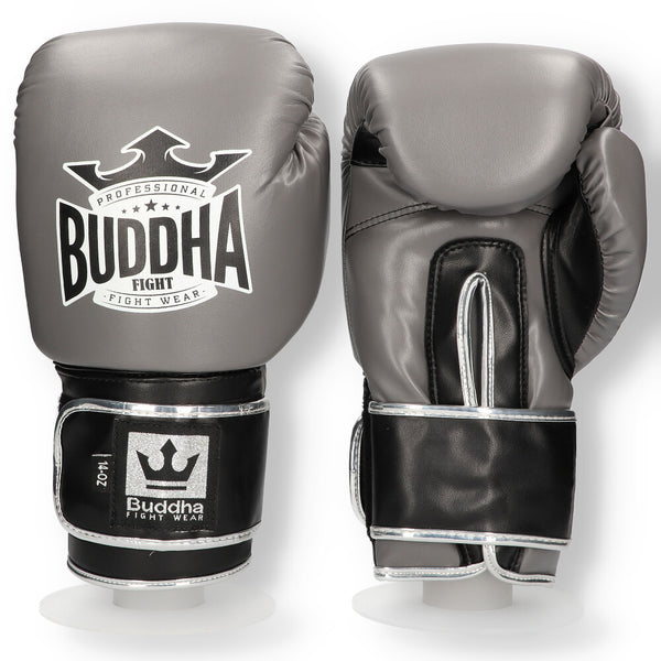 Boxhandschuhe Muay Thai Kick Boxing Top Fight Grau - Buddha Fight Wear