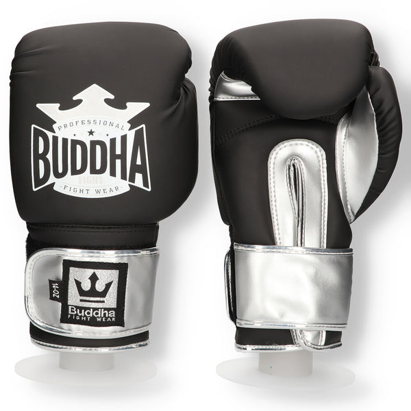 Boxing Gloves Muay Thai Kick Boxing Top Fight Matt black - Buddha Fight Wear