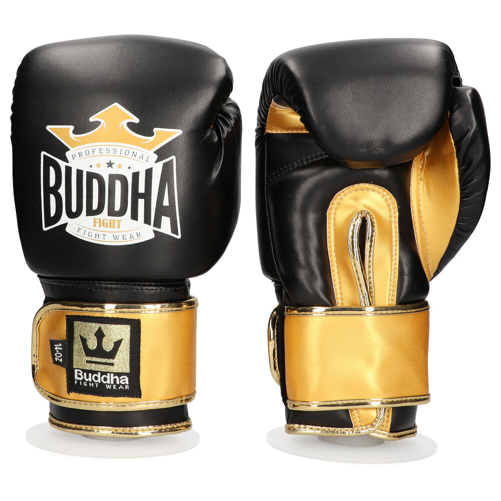 Guantes de Boxeo Muay Thai Kick Boxing Top Fight Negro Oro
