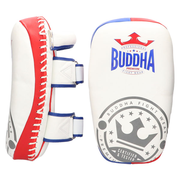 Paos Thailand Leather Buddha White Professionals (Pair) - Buddha Fight Wear