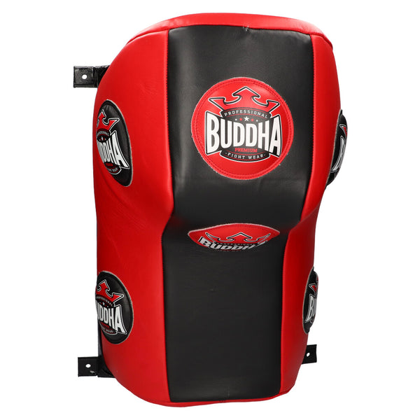 Professional Square Sack Buddha Thailand Leather Black-Red - Buddha Fight Wear