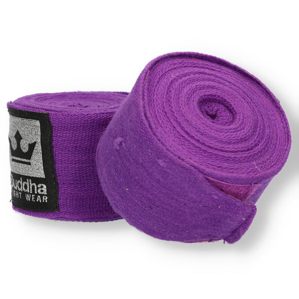 Semi Elastic Cotton Boxing Bandagen 4,5 Meter Lila - Buddha Fight Wear