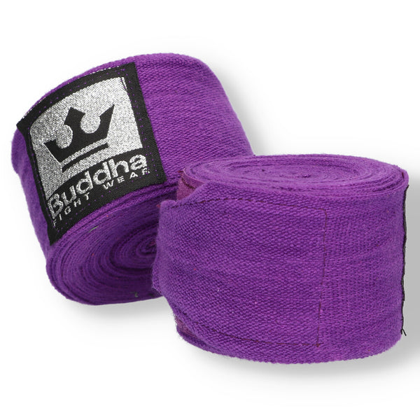 Semi Elastic Cotton Boxing Bandages 4,5 Meters Purple - Buddha Fight Wear