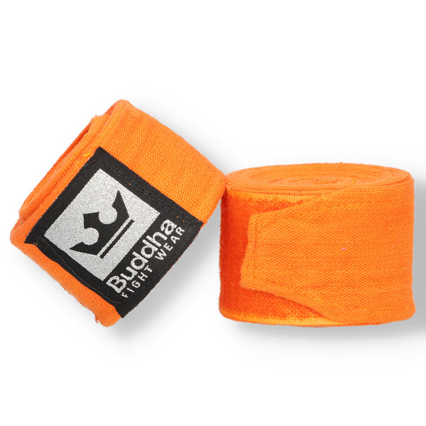 Semi Elastic Cotton Boxing Bandagen 4,5 Meter Orange - Buddha Fight Wear