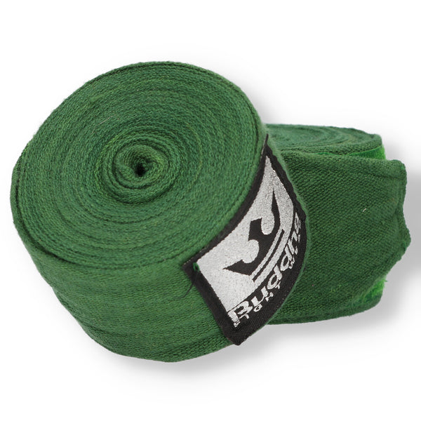 Green Cotton Semi Elastic Boxing Bandages - Buddha Fight Wear