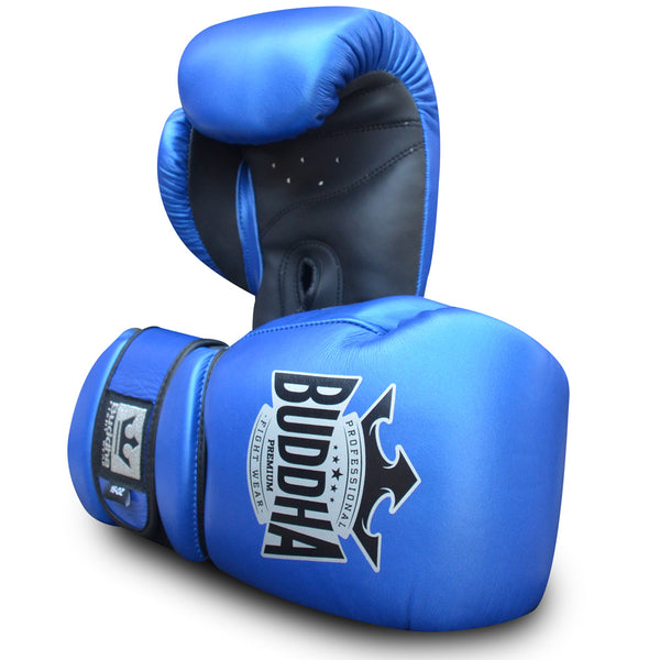 Guants de Boxa Muay Thai Kick Boxing Buddha Pro Gel Blau - Buddha Fight Wear