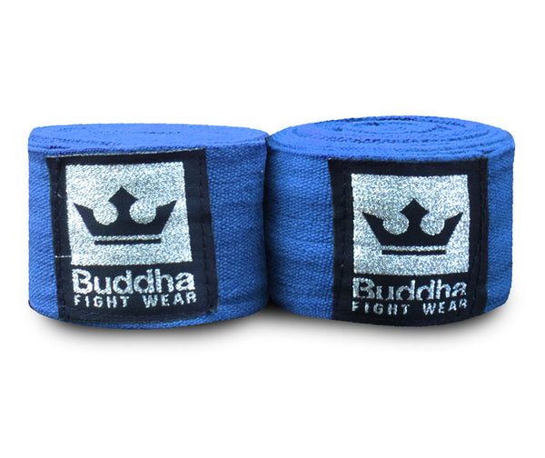 Semi Elastic Cotton Boxing Bandagen 4,5 Meter Blau - Buddha Fight Wear
