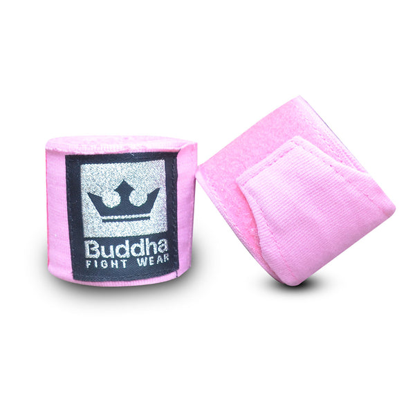 Benes de Boxa Semi Elàstics Cotó Rosa Clar - Buddha Fight Wear