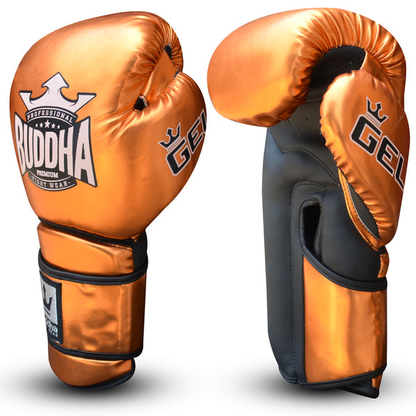 Muay Thai Kick Boxen Boxhandschuhe Buddha Pro Gel Bronze - Buddha Fight Wear