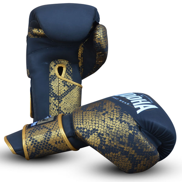 Muay Thai Kick Boxing Boxing Gloves Buddha Golden Combo - Buddha Fight Wear