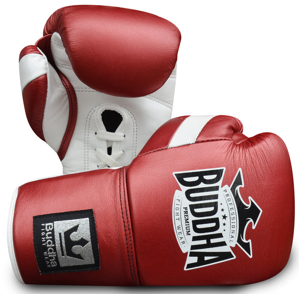 Muay Thai Kick Boxing Boxing Gloves Buddha Red Skin Professional Competition - Buddha Fight Wear