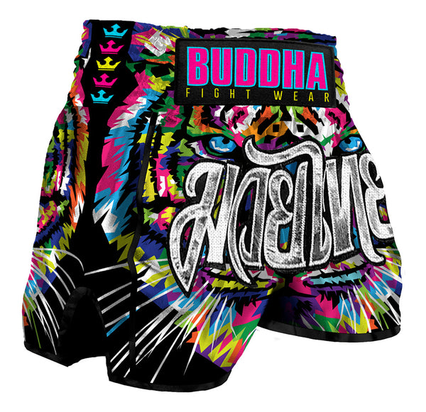 Muay Thai Kick Boxing prakak Buddha Retro Eyes - Buddha Fight Wear