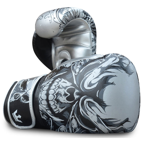 Boxhandschuhe Muay Thai Kick Boxen Fantasy Schädel - Buddha Fight Wear