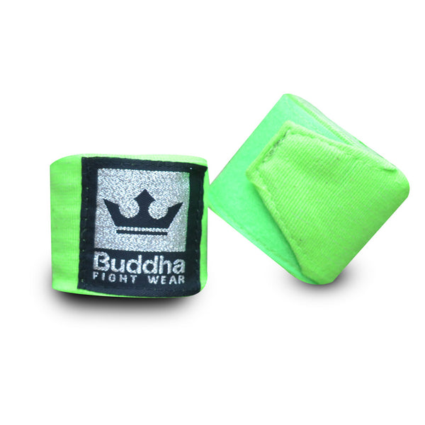 Benes de Boxa Semi Elàstics Cotó Verd Fluor - Buddha Fight Wear
