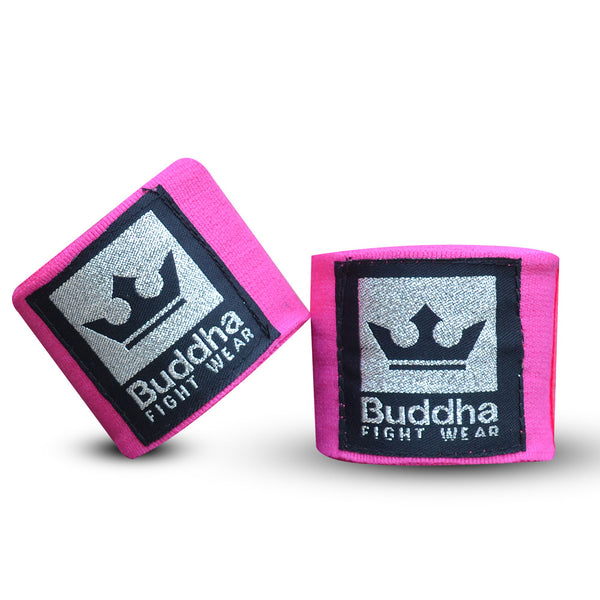 Benes de Boxa Semi Elàstics Cotó Rosa Fluor - Buddha Fight Wear