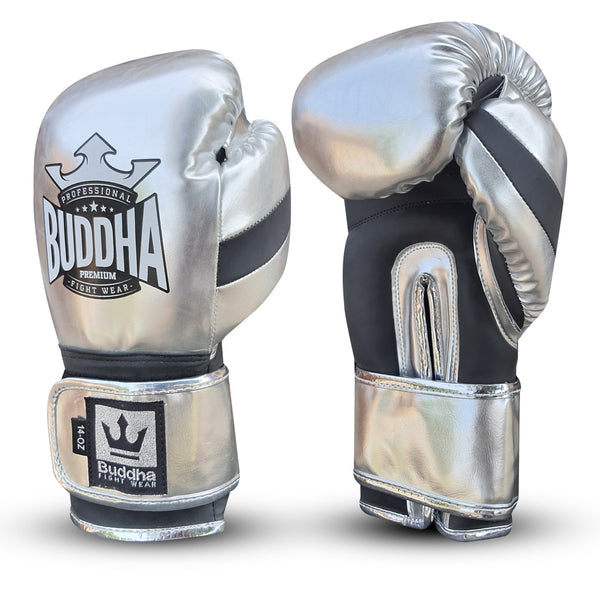Boxeo Eskularruak Muay Thai Kick Boxing Deluxe Silver - Buddha Fight Wear