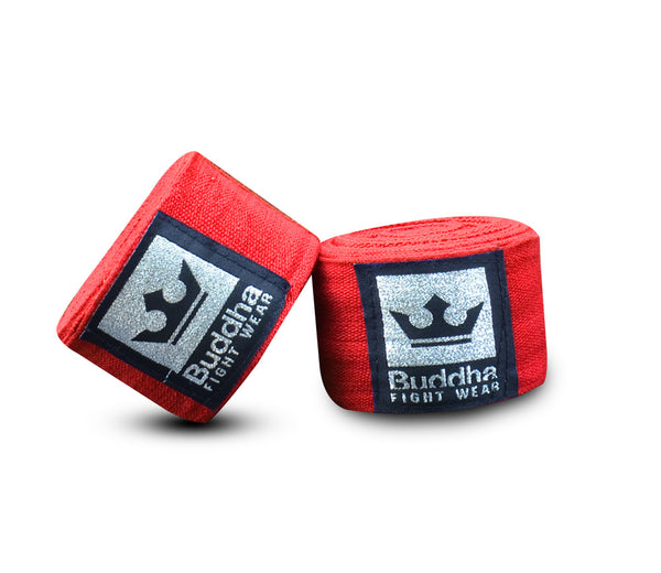 Semi Elastic Cotton Boxing Bandages 4,5 Meters Red - Buddha Fight Wear