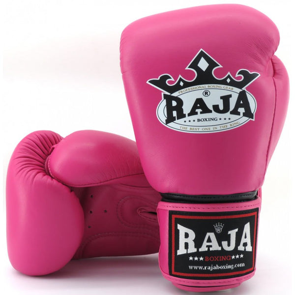 Raja Boxing Colors Pink Leather Gloves - Buddha Fight Wear