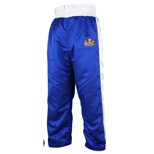 Pantalons de Kick-Light Boxing Reversible Buddha Vermell / Blau - Buddha Fight Wear