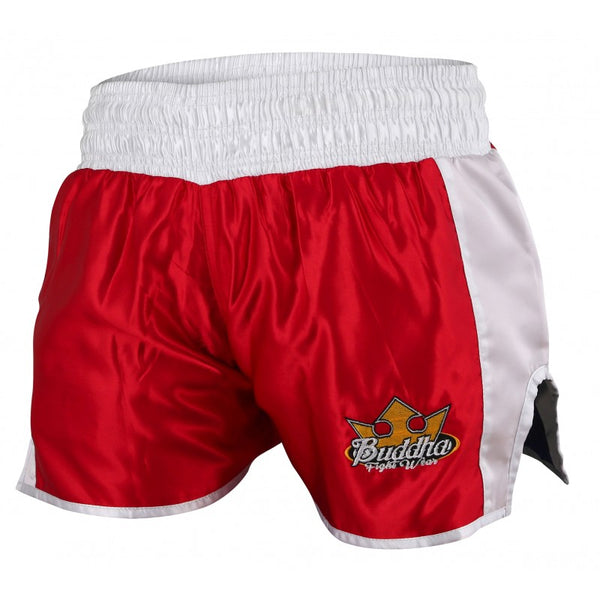Muay Thai Kick Boxing Pantera itzulgarria Buddha Retro Red / Blue - Buddha Fight Wear