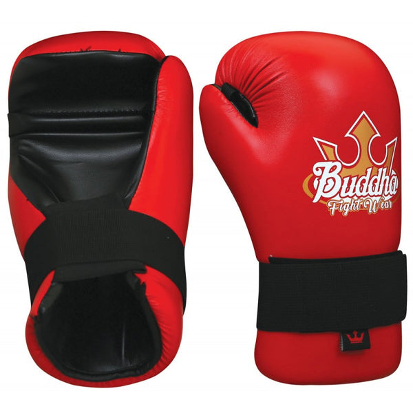 Red Approved Semi Contact Gloves - Buddha Fight Wear