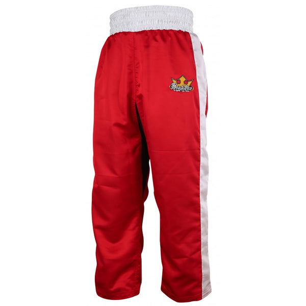 Kick-Light Boxing Reversible Pant Buddha Red Blue - Buddha Fight Wear