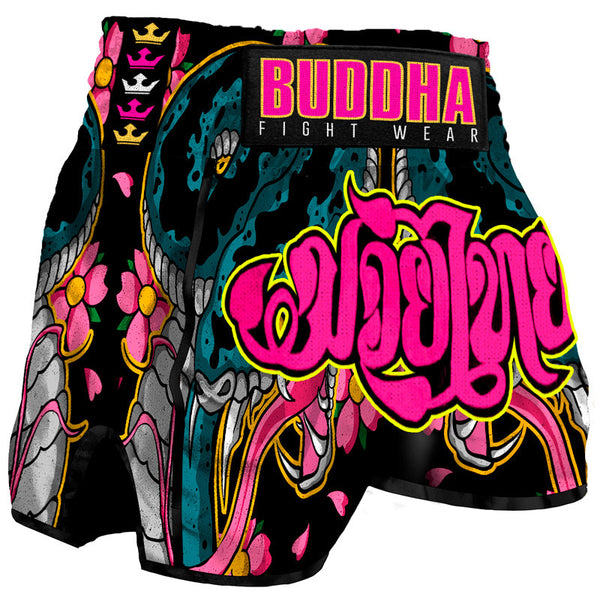 Muay Thai Kick Boxing prakak Buddha Retro Cobra - Buddha Fight Wear