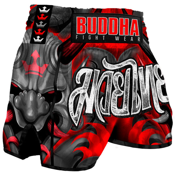 Muay Thai Kick Boxhose Buddha Retro Dämon - Buddha Fight Wear