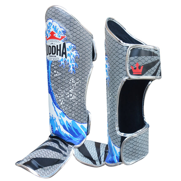 Shin Guards Muay Thai Kick Boxing Fantasy Tsunami edizio berezia - Buddha Fight Wear