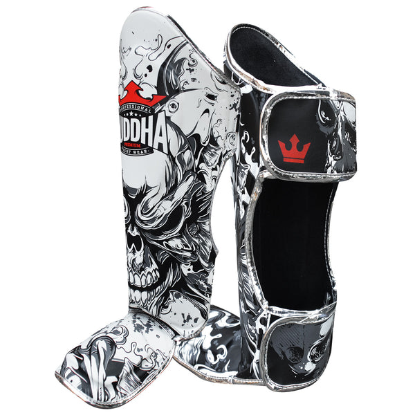 Shin Guards Muay Thai Kick Boxing Fantasy Skull Edizio Berezia - Buddha Fight Wear